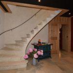 Escalier en pierres de taille